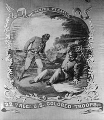 Sic semper tyrannis - 22th Regt. U.S. Colored Troops, 1864. Bowser, David Bustill, 1820-1900 , artist