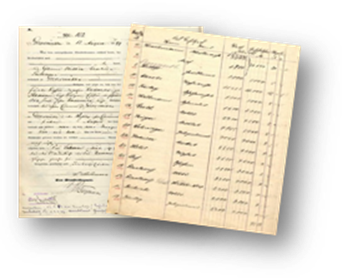 Vital records registrations, Pomerania, Germany