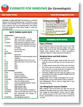 Evernote Quick Ref Guide