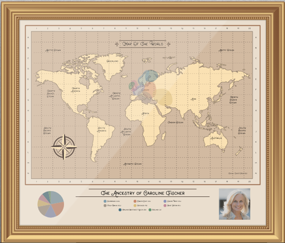 dna ethnicity chart wall display heritage home decor genealogy gifts