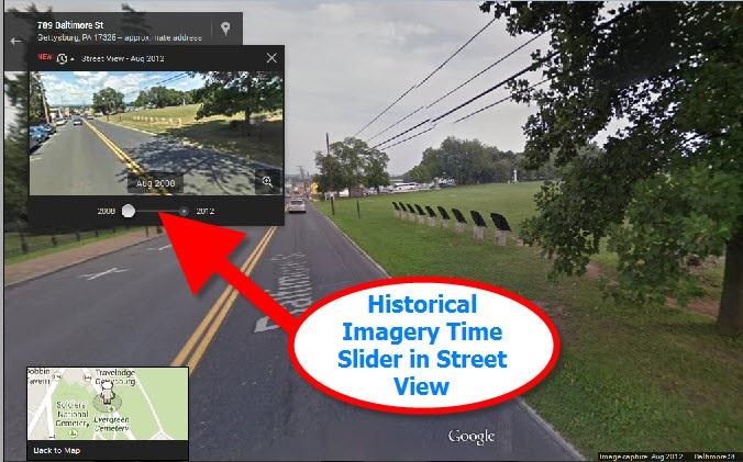 Google Maps Street View of Gettysburg