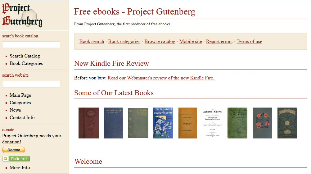 Project Gutenberg Free Digital ebooks and eBook Readers for the Mac