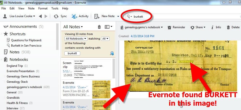 Evernote for Genealogy