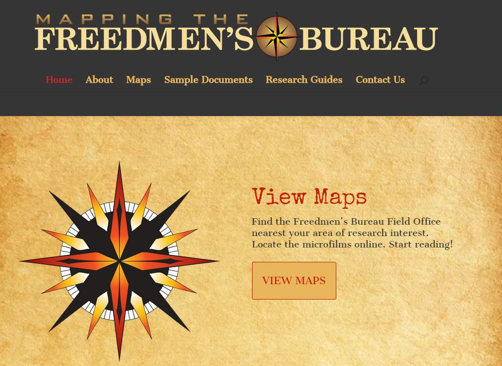 Mapping the Freedmens Bureau African-American genealogy Reconstruction