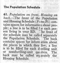 1950 census instructions population schedule