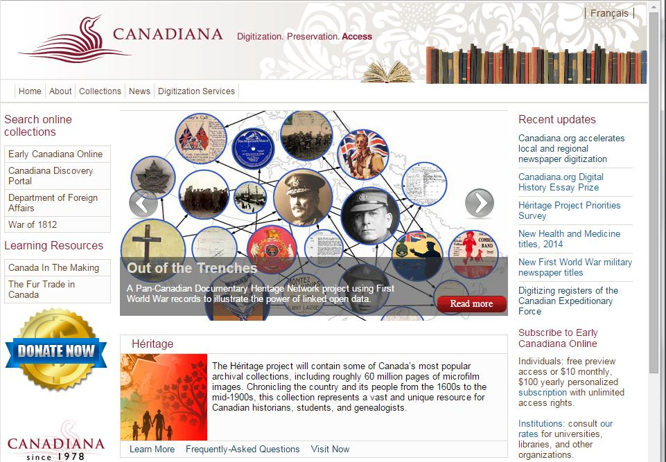 Canadiana: Canadian Digital Archive and Portal to the Past