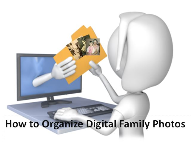 organize digital family photos