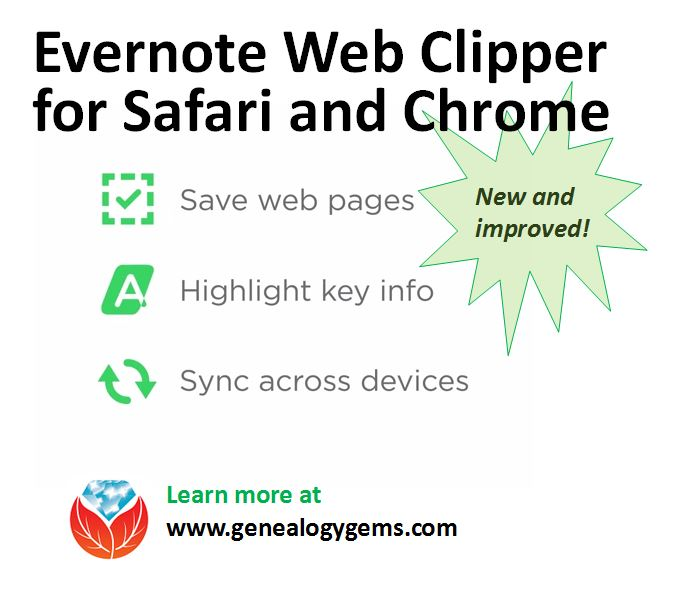 Using Evernote for Genealogy: The New Web Clipper