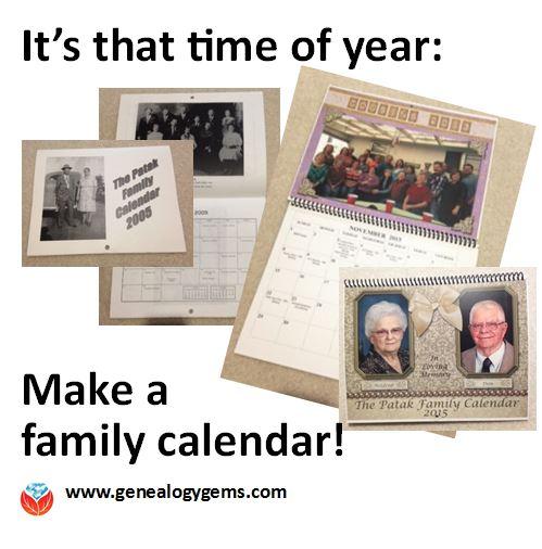 Tis' the Season: Make a Family Calendar