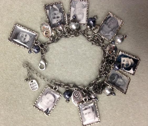 Family Photo Charm Bracelet: Heritage Jewelry Idea