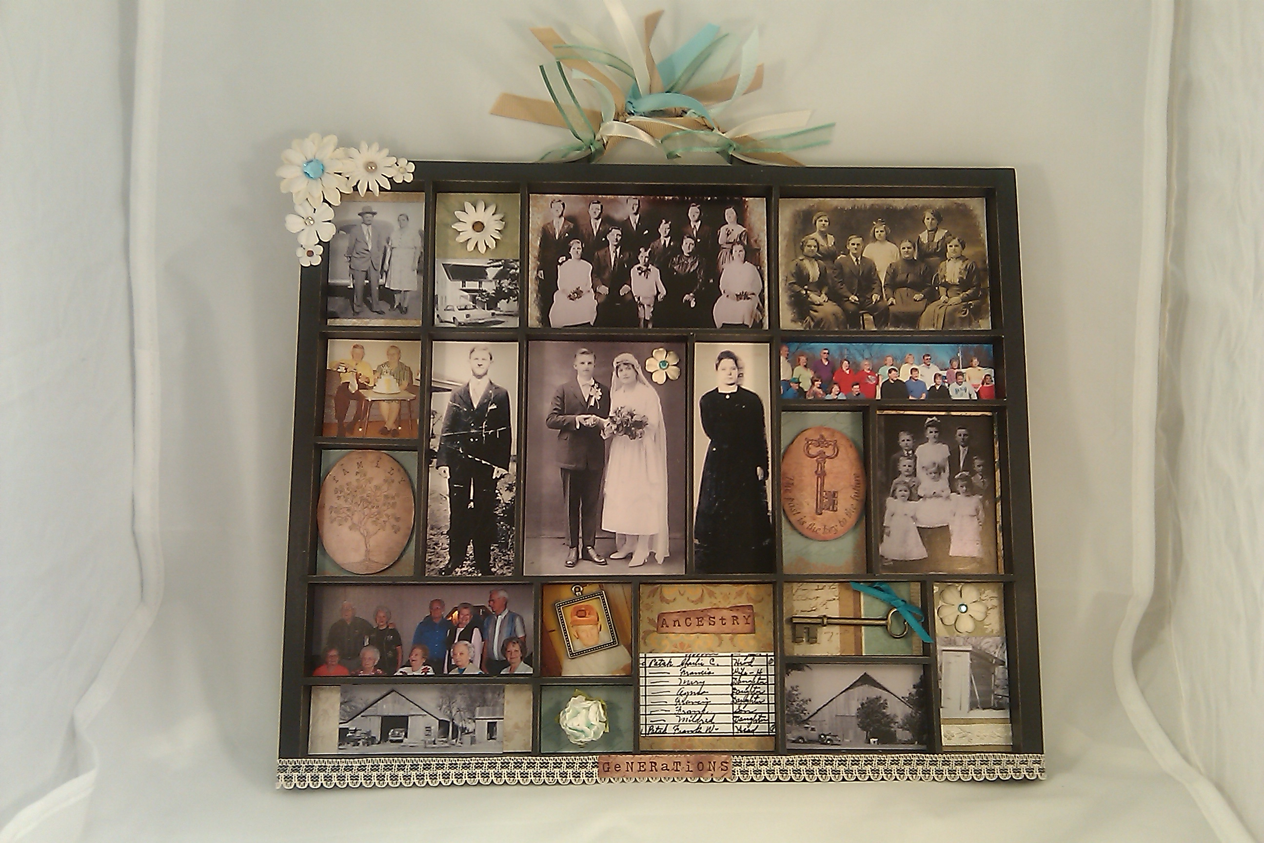 A Family History Photo Display with Mementos: What Would Yours Look Like?