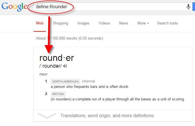 Define Google Search operator