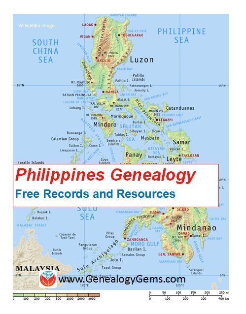 Philippines Genealogy Resources Now Online