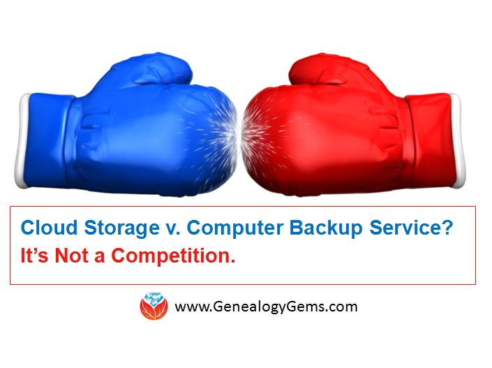 Dropbox vs. Backblaze: Does Cloud Storage for Genealogy Replace Computer Backup?