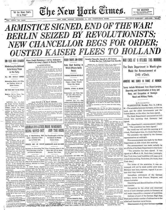 Armistice Day 1919
