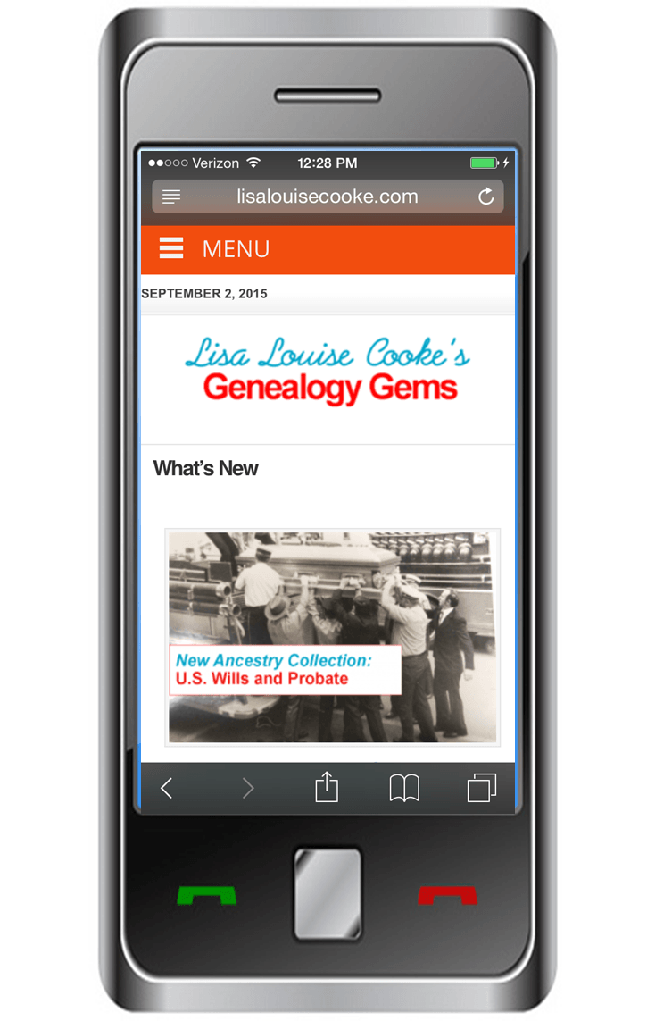 Genealogy Gems is Now Mobile-Friendly! Here are the Highlights