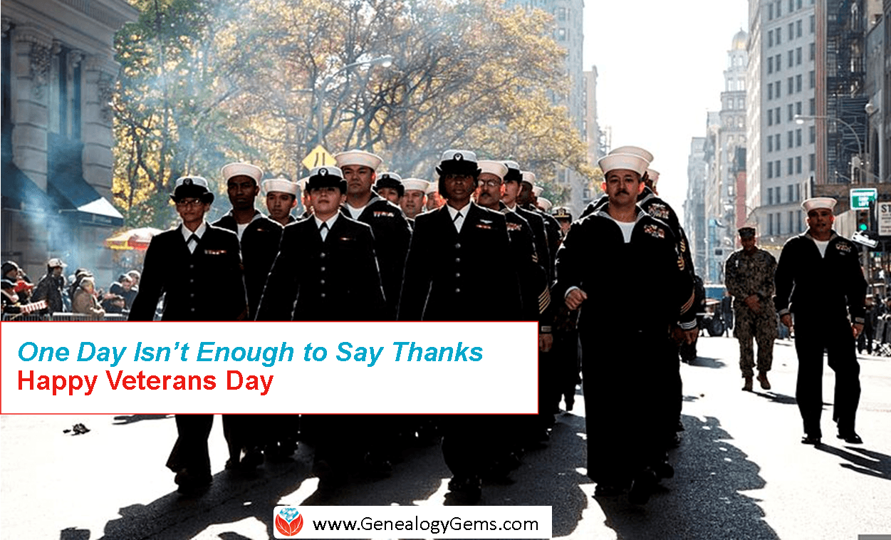 "It's Veterans Day: ""One Day is Not Enough"" To Say Thank You"