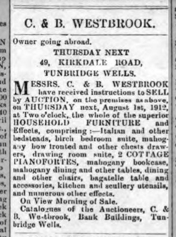 1912 Going Abroad 49 Kirkdale Road