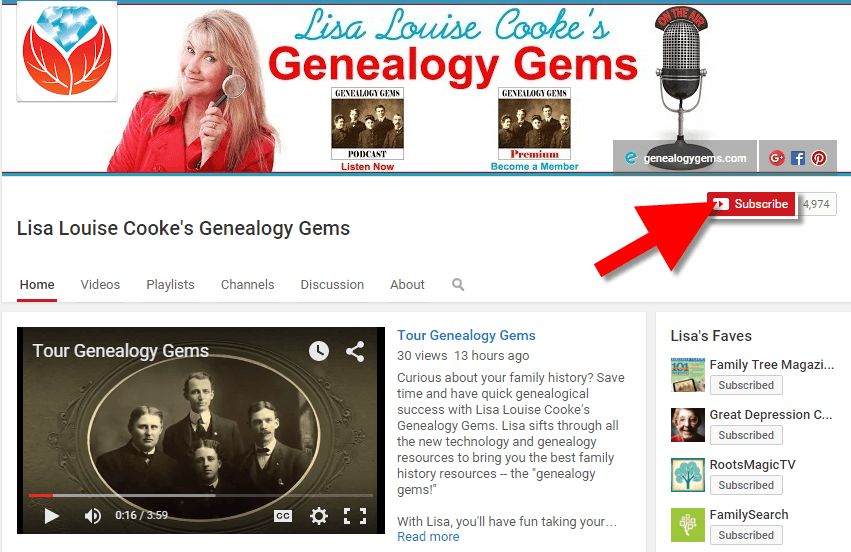 YouTube for family history and genealogy Subscribe