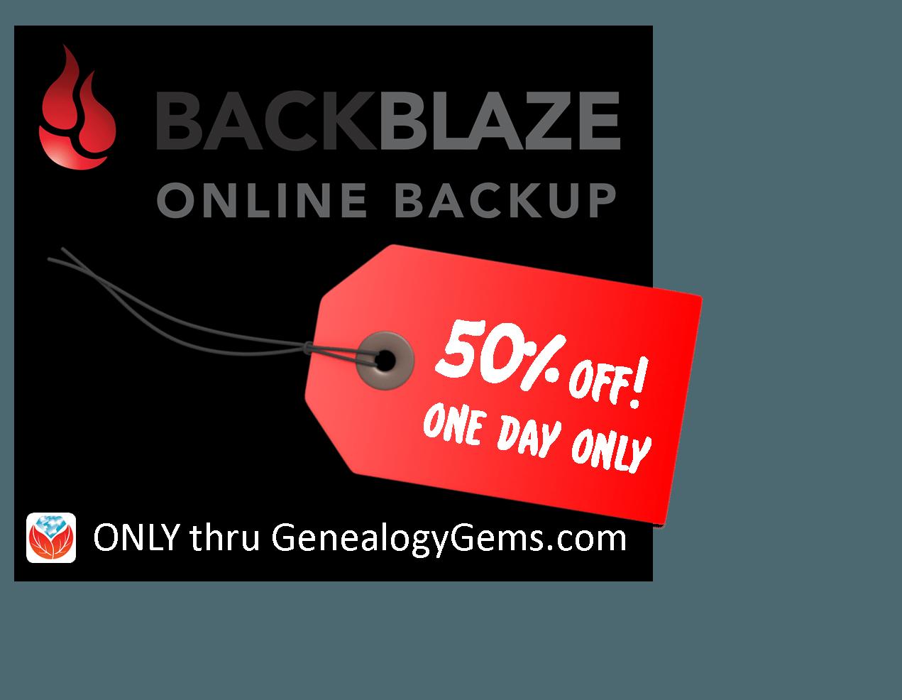 CyberMonday SALE: 50% Off Backblaze Cloud Backup