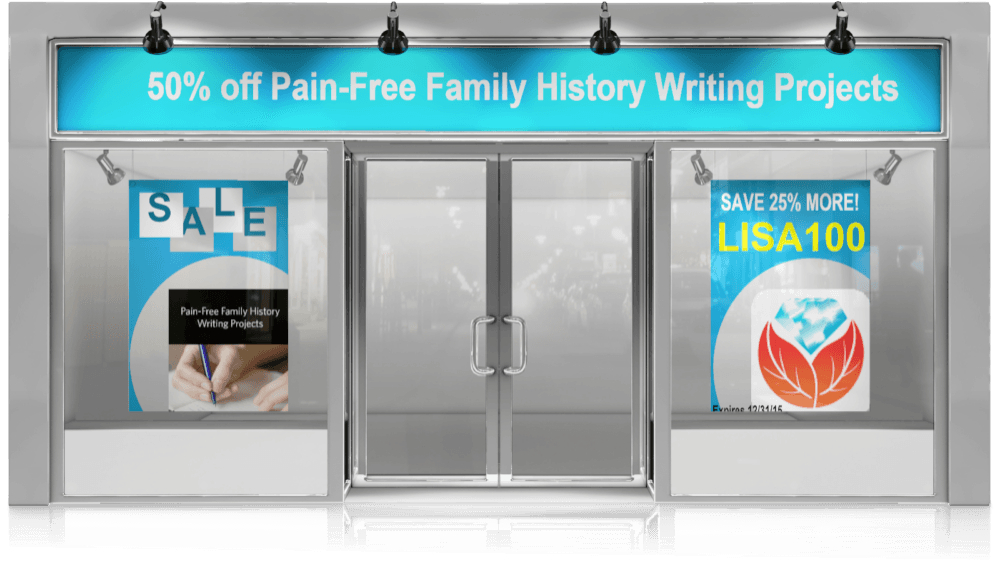 family history writing sale