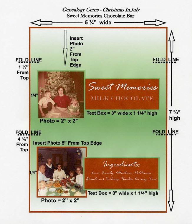 sweet memories chocolate bar template
