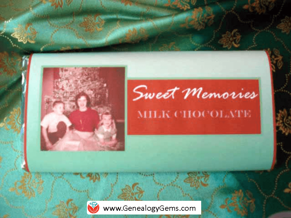 sweet memories chocolate bar