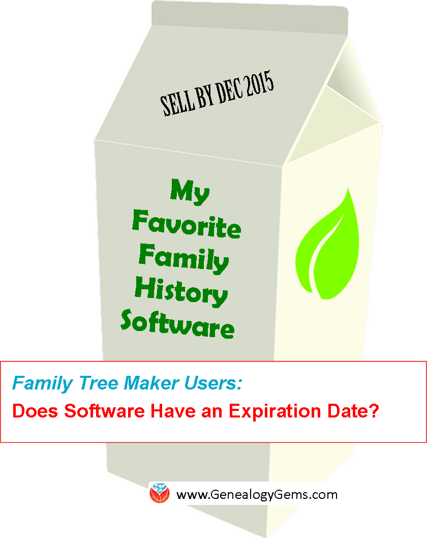 """""""Is That Software Expired?"""" Why I Wouldn't Use Obsolete Family Tree Maker Software"""
