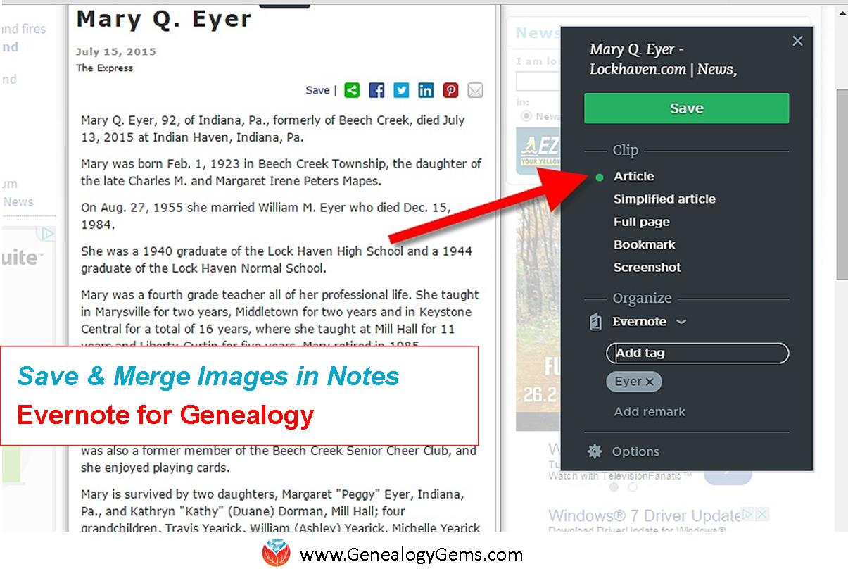 How to Print Merged Images in Evernote