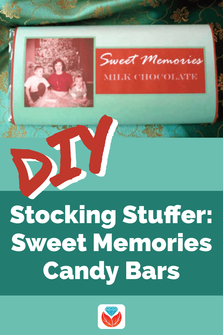 DIY Christmas stocking stuffer candy bar