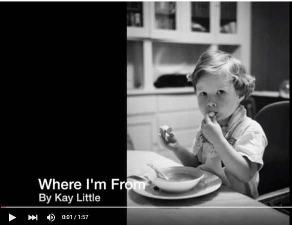 """A """"Where I'm From"""" Video and More from Our Poetry Contest"""