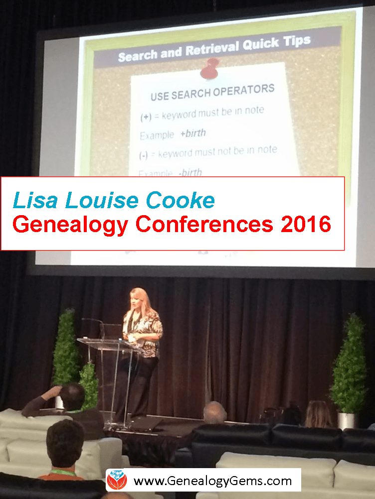 Genealogy Conferences in 2016: Lisa Louise Cooke's Calendar