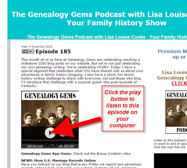 genealogy gems podcast how to 4
