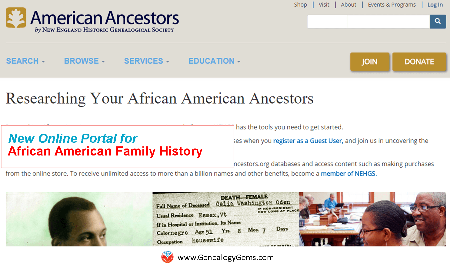 New Resource for African American Family History