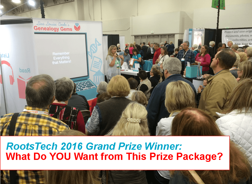 Grand Prize Winner RootsTech 2016