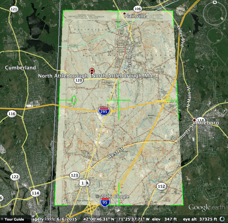 attleboro map overlay google earth for family history