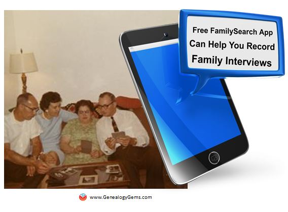 Record (and SAVE!) Audio Interviews: FamilySearch Memories App