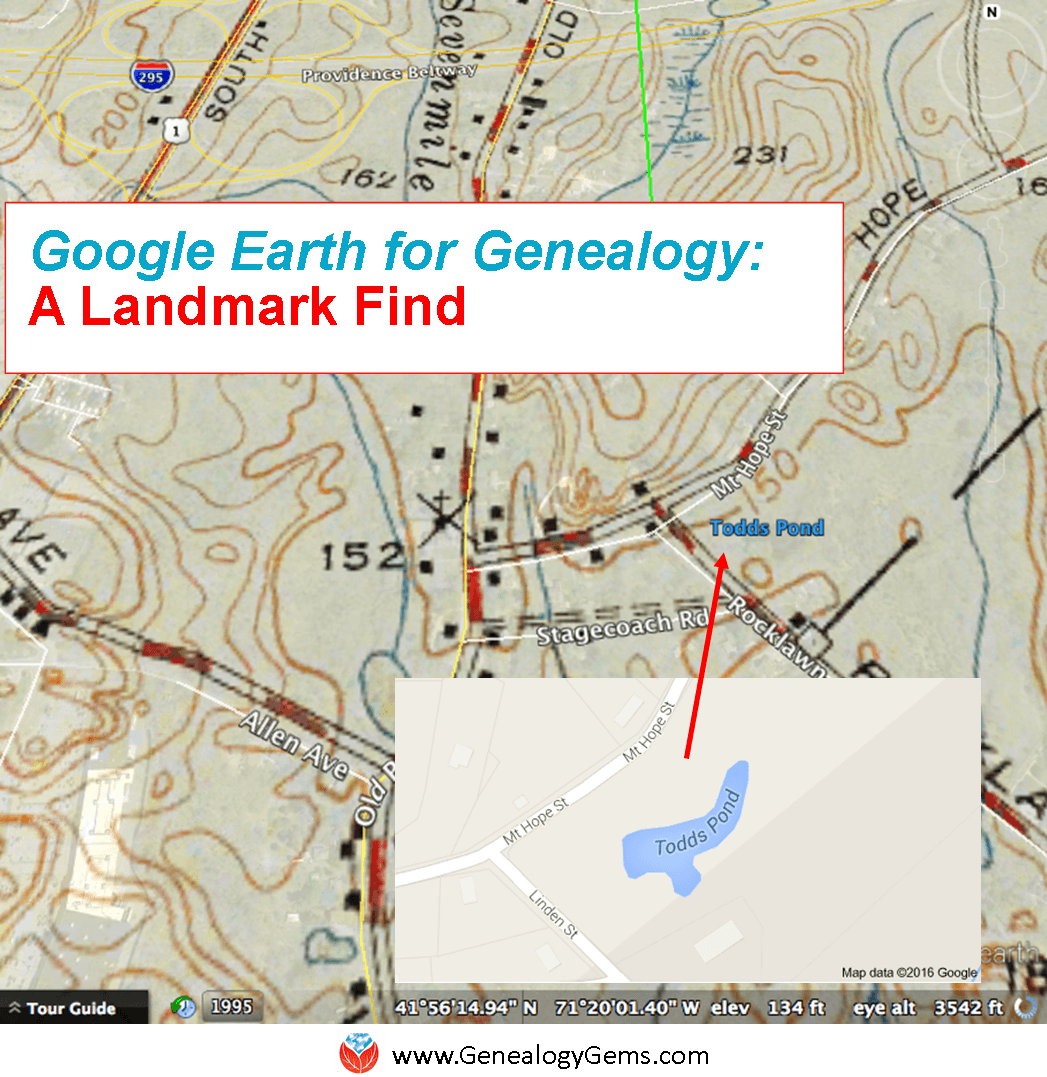 Ancestral Landmark Discovery Using Google Earth for Family History