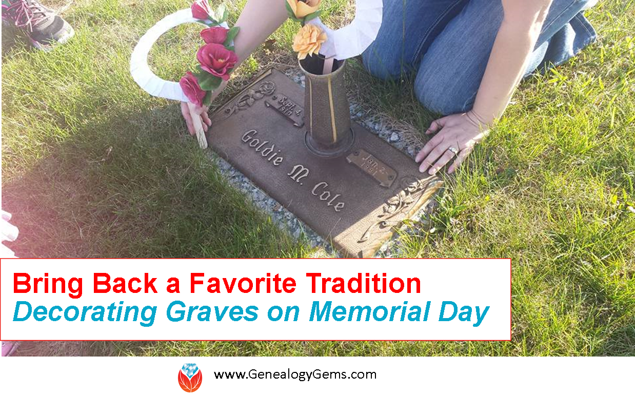 Amie Memorial Day tradition decorating graves