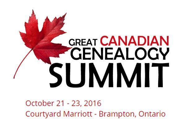 Great Canadian Genealogy Summit: Mark Your Calendars