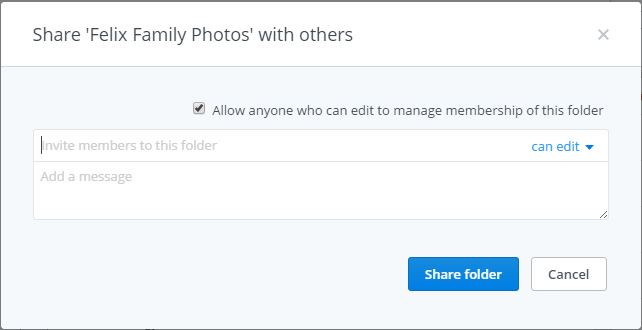 how to share folders on dropbox screenshot 2