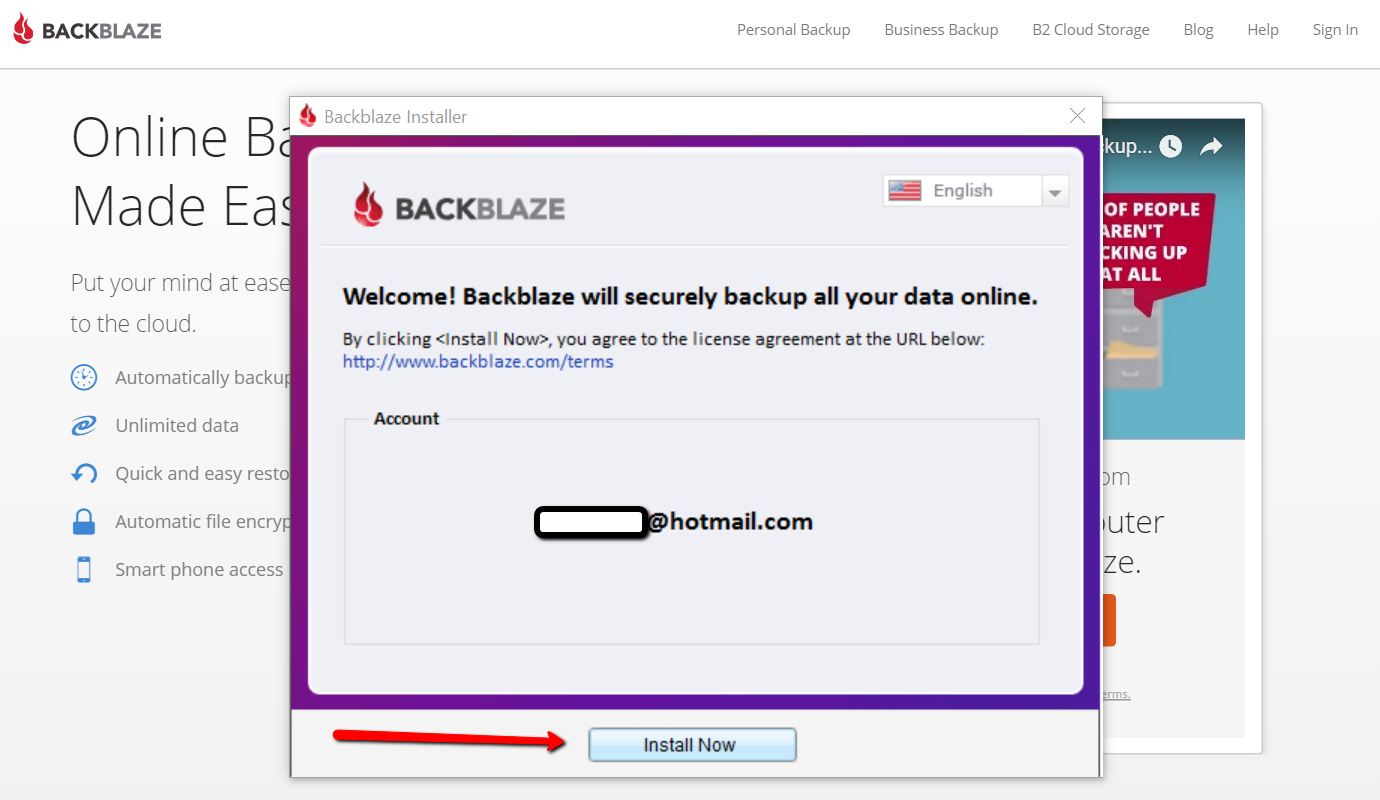 Download backblaze