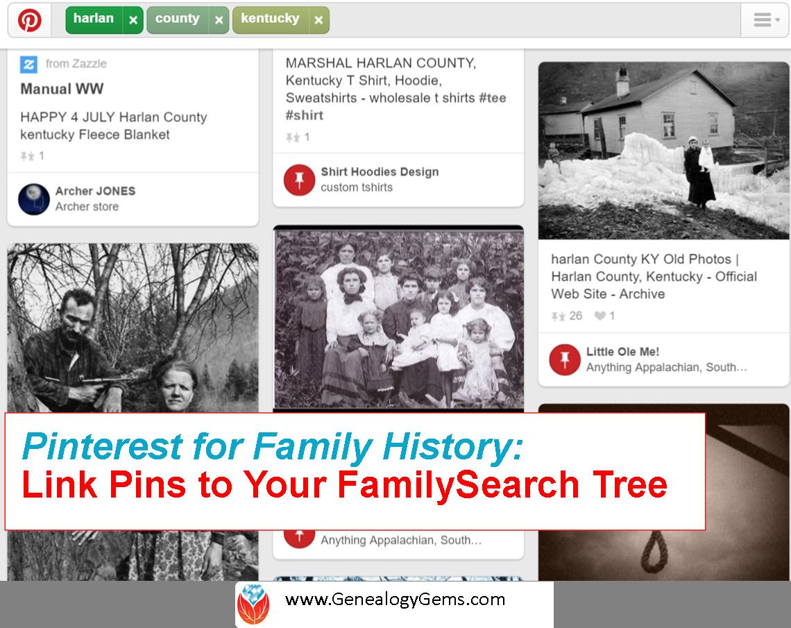 Pinterest for Family History