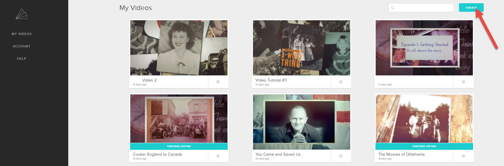 create family history videos
