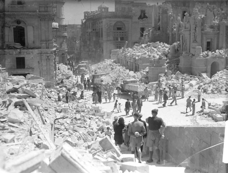 BombDamageMalta WWII photos
