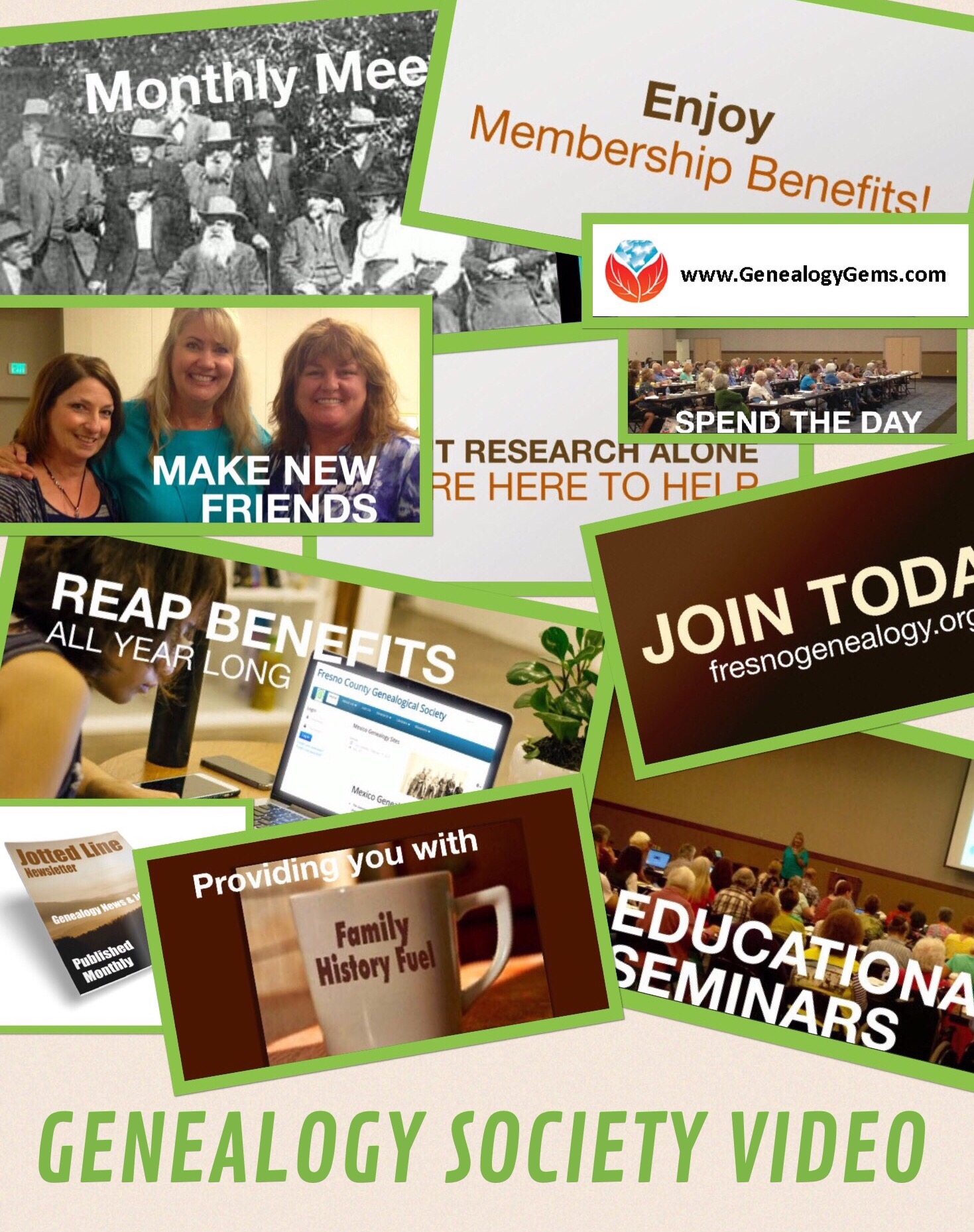 how to grow genealogy society membership with video