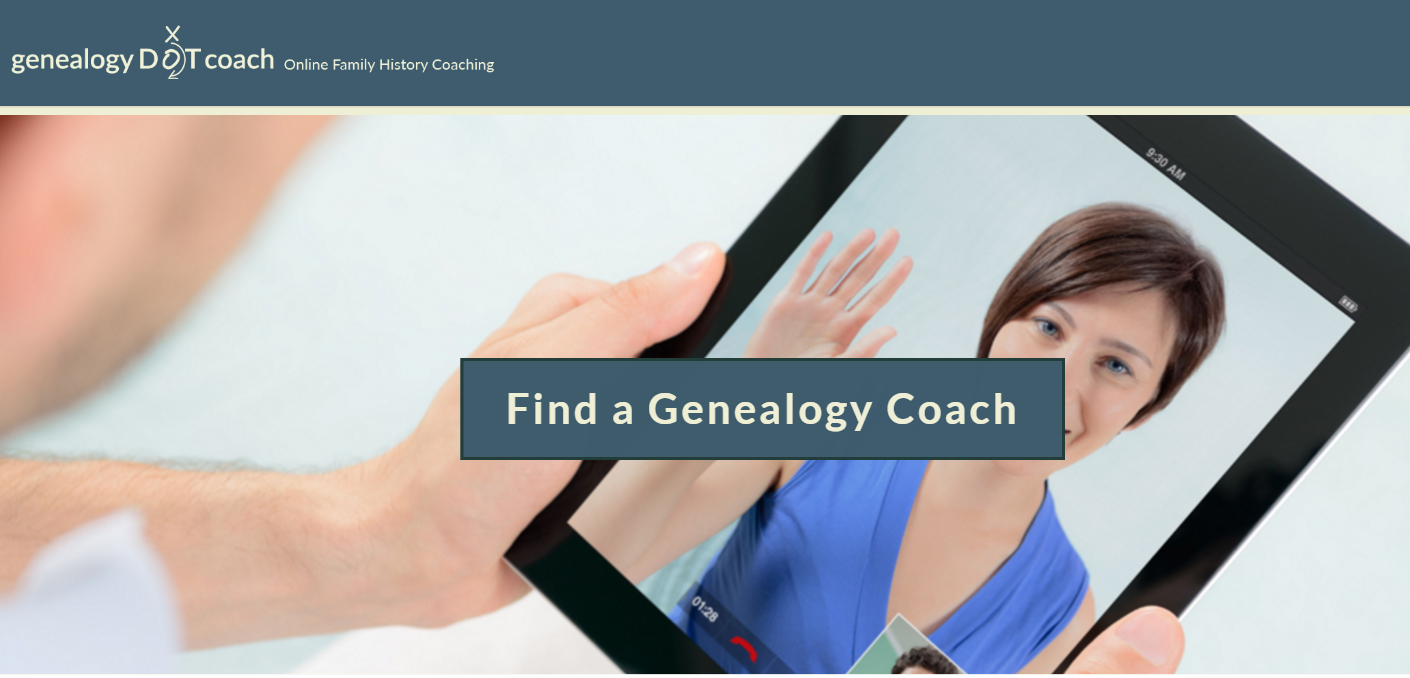 GenealogyDOTcoach Online Service for the Fledgling Genealogist