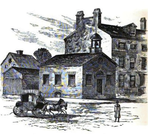 The Boston Latin School, established 1635 first school