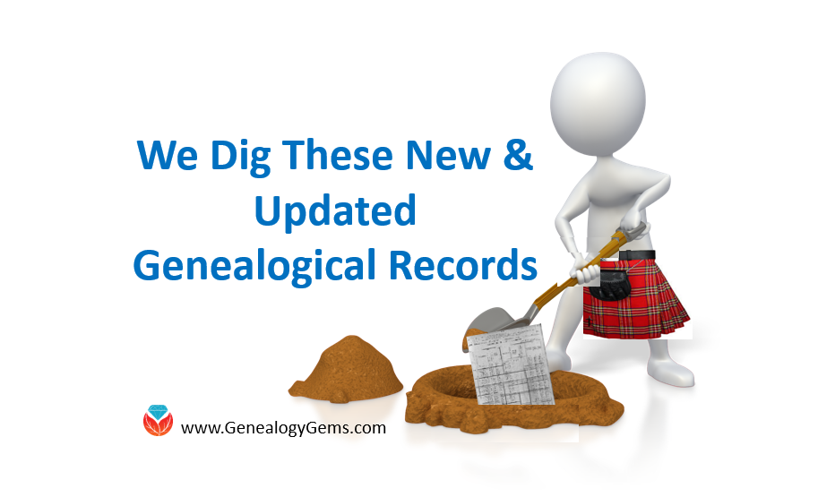 New records for Scottish Genealogy