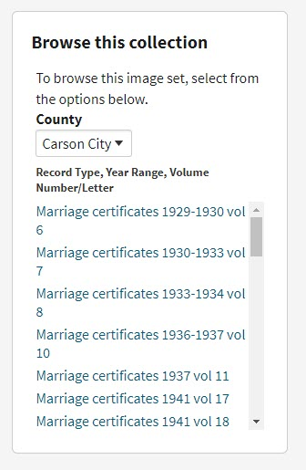 filtering down browse only records at Ancestry.com